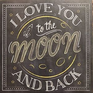 Gift Craft I Love You to The Moon Wall Plaque